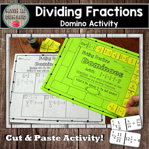 Dividing Fractions Dominoes Activity
