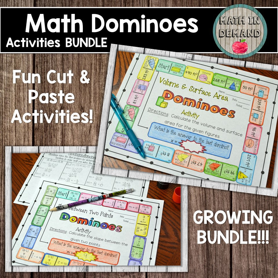 Math Dominoes Activities Bundle