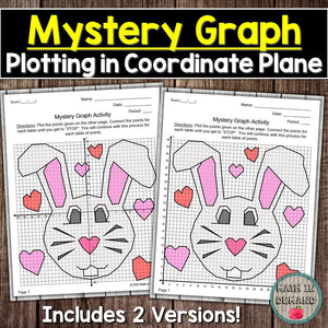 Easter Bunny Mystery Graph (Plotting Points in the Coordinate Plane)