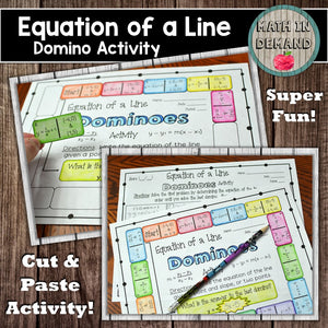 Equation of a Line Dominoes Activity