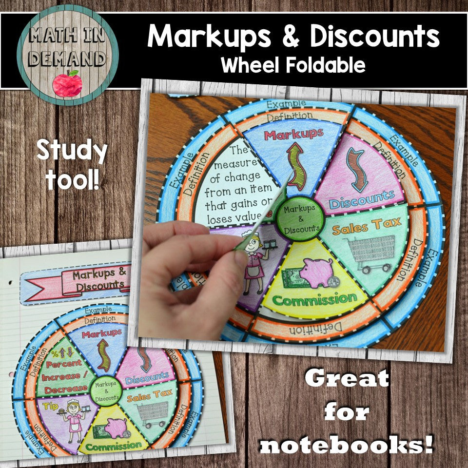 Markup and Discount Wheel Foldable