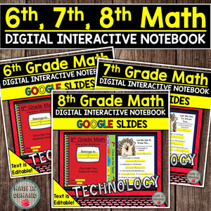 Middle School Math Interactive Notebook Bundle (6th, 7th, & 8th Grade)