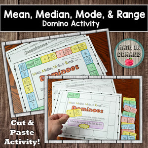 Mean, Median, Mode, and Range Dominoes Activity