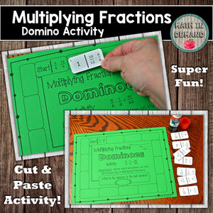 Multiplying Fractions Dominoes Activity