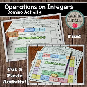 Operations on Integers Dominoes Activity