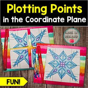 Plotting Points in the Coordinate Plane Snowflake Activity