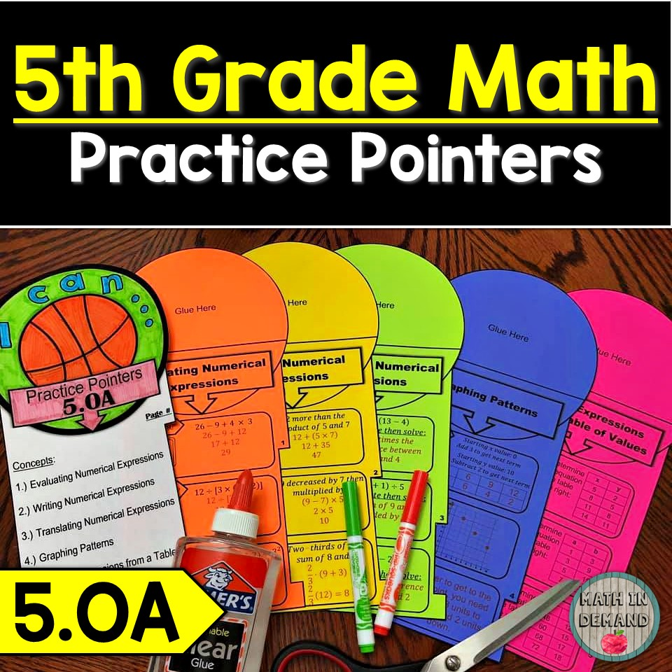 5th Grade Math Practice Pointers for Operations & Algebraic Thinking - 5.OA
