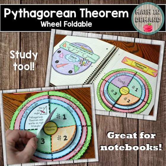 Pythagorean Theorem Wheel Foldable