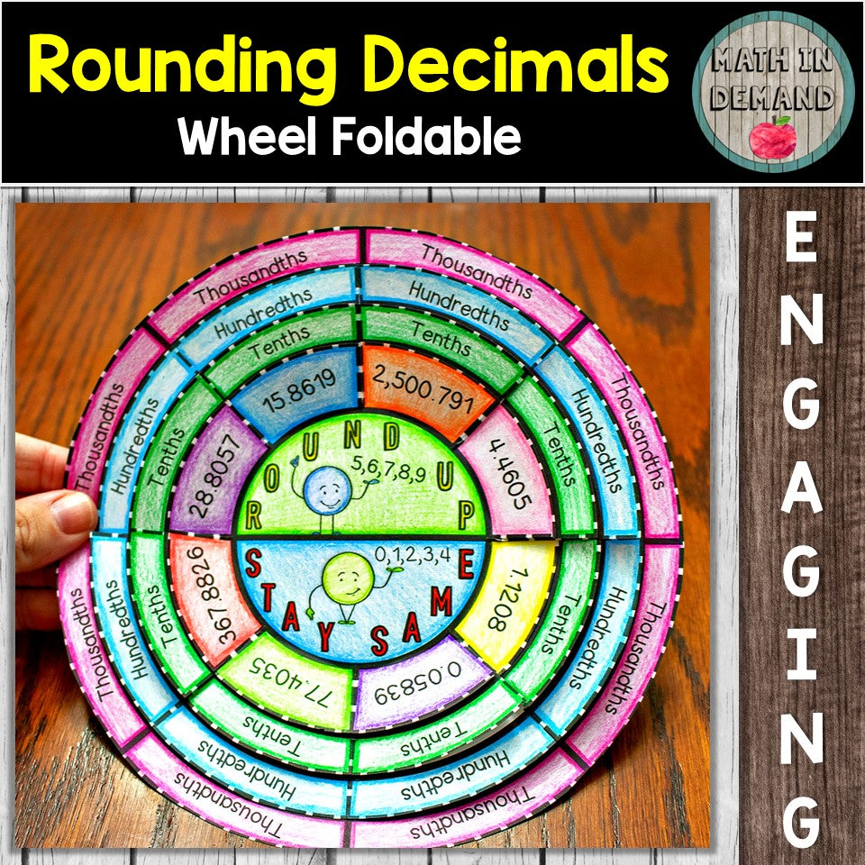 Rounding Decimals Wheel Foldable