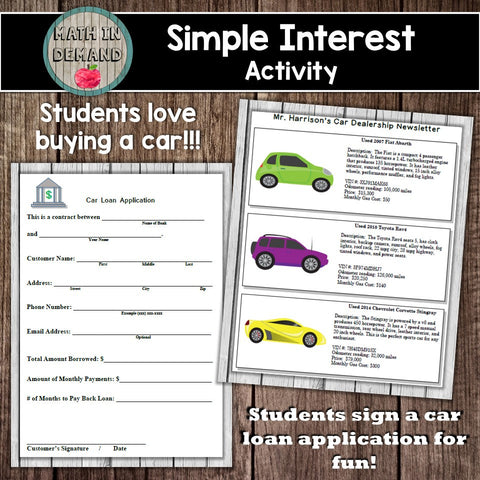 Simple Interest Activity