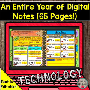 6th Grade Math Digital Notebook