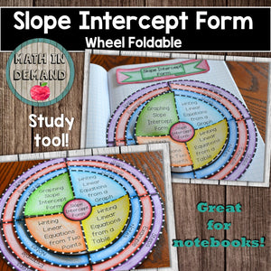 Slope-Intercept Form Wheel Foldable