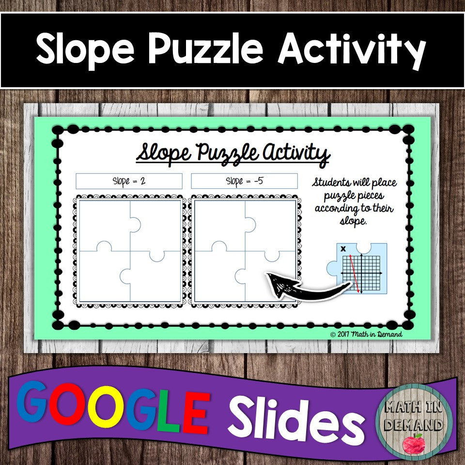 Slope Puzzle in Google Slides