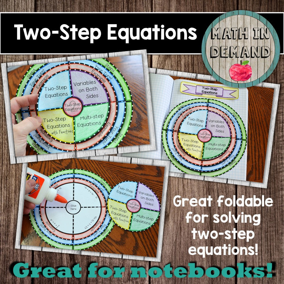 Two-Step Equations Foldable