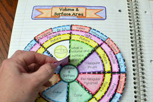 Volume and Surface Area Wheel Foldable