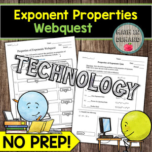 Exponent Properties Webquest