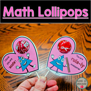 Math Lollipops or Suckers (Perfect for Valentine's or Throughout the Year!)