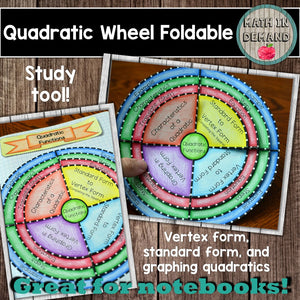 Quadratic Foldable