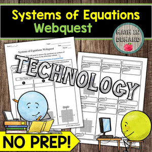 Systems of Equations Webquest