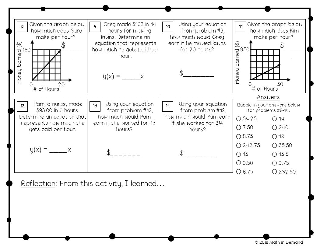 - 7th Grade Math Worksheets - Math In Demand