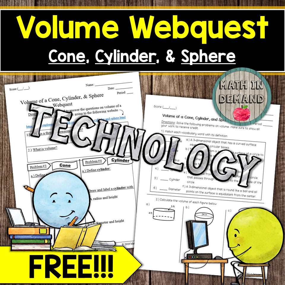 Volume Webquest