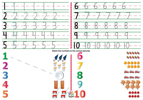 Numbers Placemat with eBook (2 ct)
