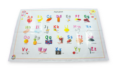 Alphabet & Numbers Disposable Placemats 60-Count (2 Designs) BPA FREE for Baby and Toddlers