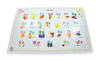 Image of Alphabet & Numbers Disposable Placemats 60-Count (2 Designs) BPA FREE for Baby and Toddlers