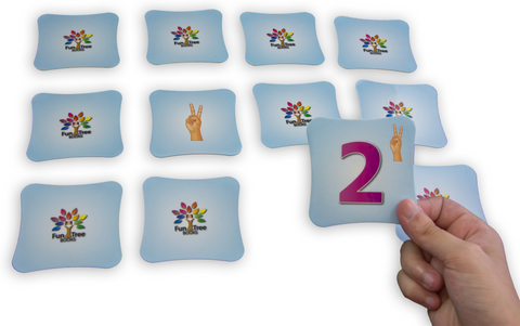 American Sign Language (ASL) Game - Memory Cards Matching Game with eBook
