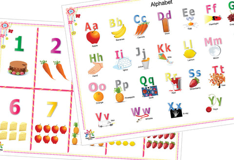 Alphabet and Numbers Placemats with eBooks