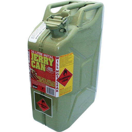 20 Litre Green Metal Diesel Fuel / Jerry Can - 1151