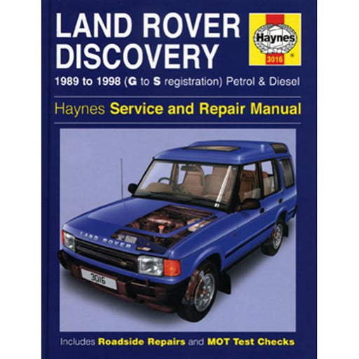 Haynes Repair Manual - Land Rover Discovery 1989-1998 - A1 Autoparts Niddrie
