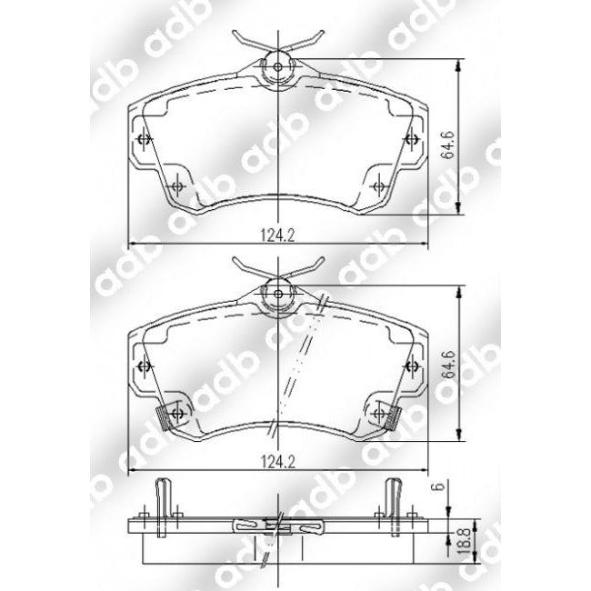 ADB Performance Brake Pad Set - 7716 - A1 Autoparts Niddrie  - 2