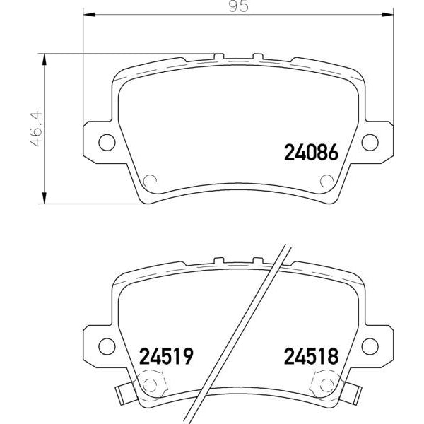 ADB Performance Brake Pad Set - ADB2177 - A1 Autoparts Niddrie  - 2