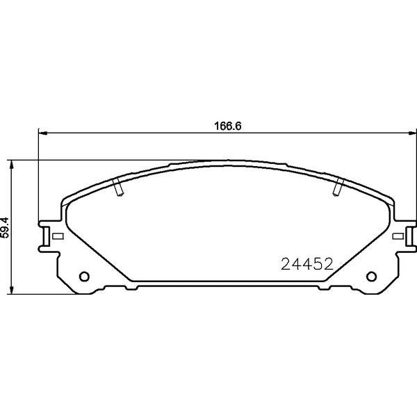 ADB Performance Brake Pad Set - ADB2004 - A1 Autoparts Niddrie  - 2