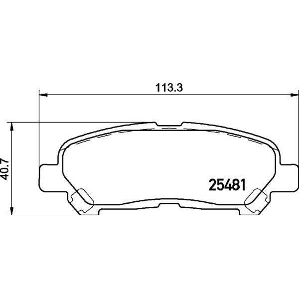 ADB Performance Brake Pad Set - ADB2005 - A1 Autoparts Niddrie  - 2