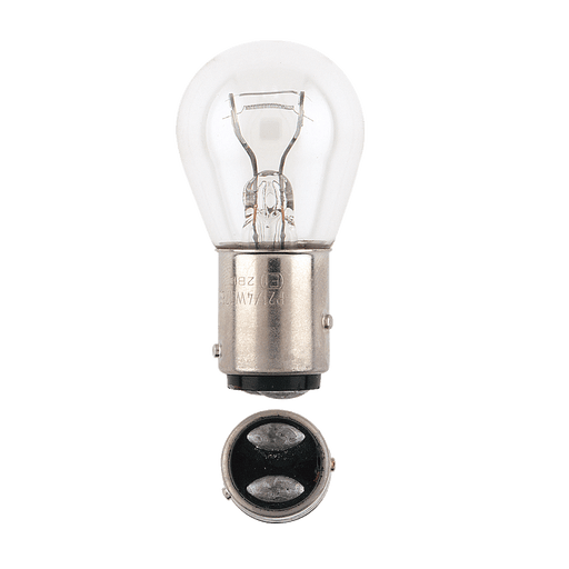 Narva 12V 21/4W BAZ15D Incandescent Globes (Pack of 2) - 47386BL