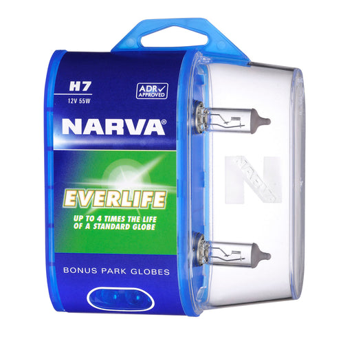 Narva 12V H7 55W Everlife Halogen Globes (Twin Pack) - 48329BL2