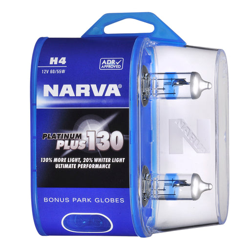 Narva Platinum Plus 130 Globes (Twin Pack) - H4