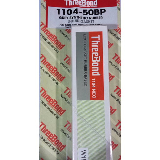 Threebond Synthetic Rubber Liquid Gasket Grey - 1104 (50g) - A1 Autoparts Niddrie