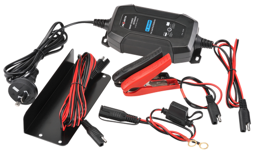 Projecta 12V Automatic 1.5 Amp 4 Stage Battery Charger - AC015