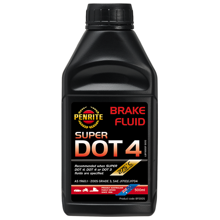 Penrite Super Dot 4 Brake Fluid - 500ml - A1 Autoparts Niddrie