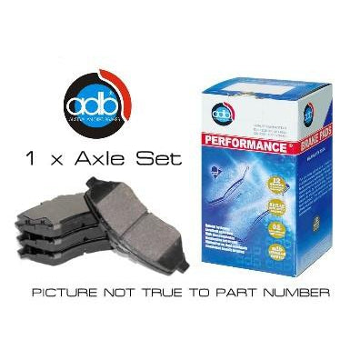 ADB Performance Brake Pad Set - ADB1076 - A1 Autoparts Niddrie  - 1