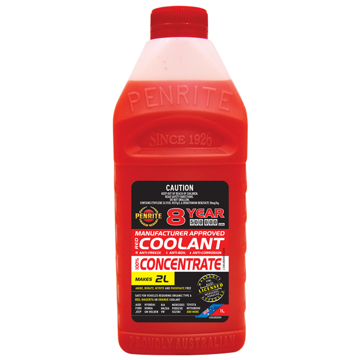 Penrite 8Yr Red Coolant Concentrate - 1Ltr - A1 Autoparts Niddrie