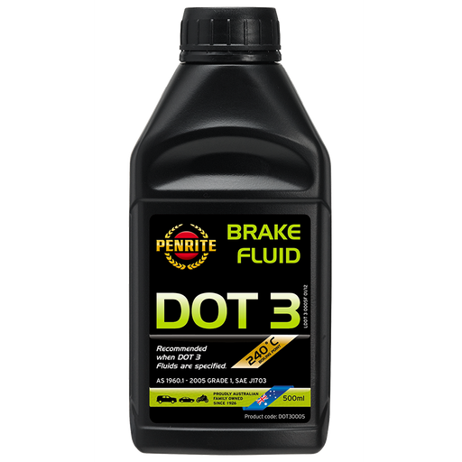 Penrite Dot 3 Brake Fluid - 500ml - A1 Autoparts Niddrie