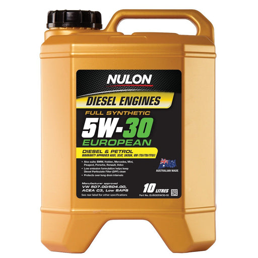 Nulon Full Synthetic Euro 5W30 Engine Oil - 10 Litre