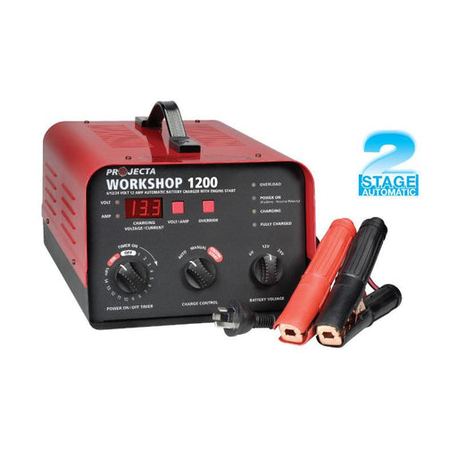Projecta Automatic & Manual 6/12/24V 12A 2 Stage Battery Charger - HDBC20 - A1 Autoparts Niddrie