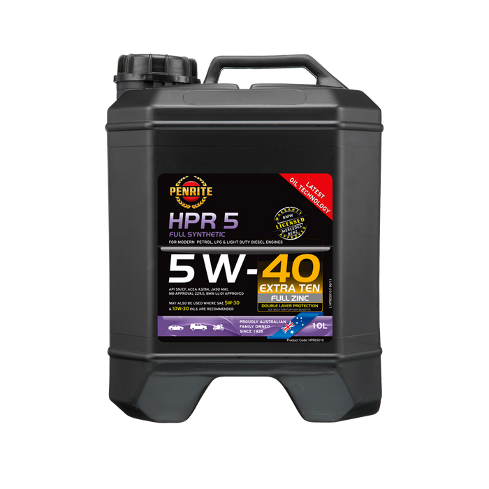 Penrite HPR5 5W40 - 10Ltr - A1 Autoparts Niddrie