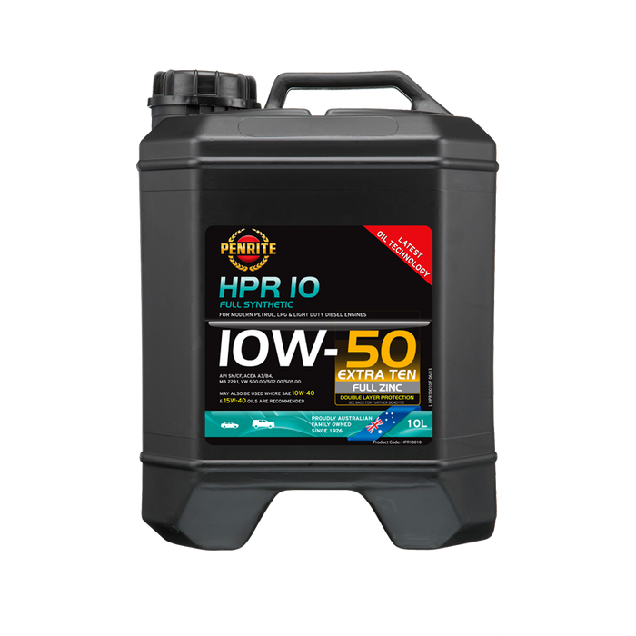 Penrite HPR10 10W50 - 10Ltr - A1 Autoparts Niddrie