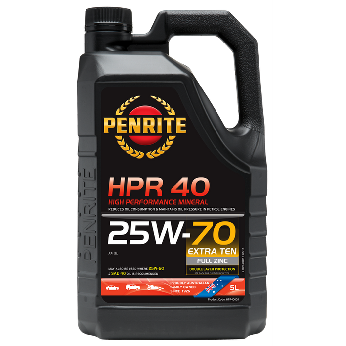 Penrite HPR40 25W70 - 5Ltr - A1 Autoparts Niddrie